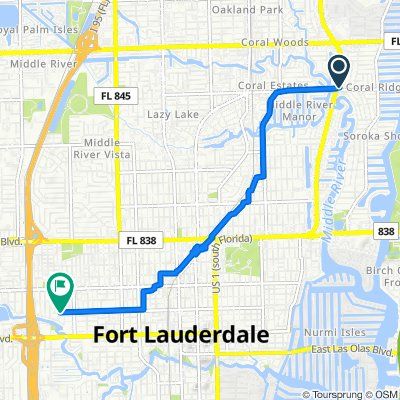 Northeast 26th Avenue 2355-2365, Fort Lauderdale to Northwest 4th Street 1565, Fort Lauderdale