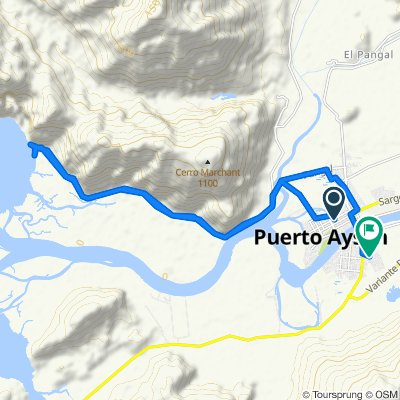 De Serrano Montaner 611–723, Puerto Aysen a Emilio Pualuan, Puerto Aysen