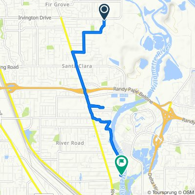 3567 Alameda St, Eugene to 138 McClure Ln, Eugene