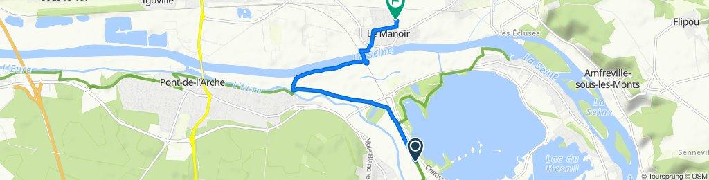 De Voie Verte de la Seine À l'Eure, Lery à Rue des Ardennes 12, Le Manoir