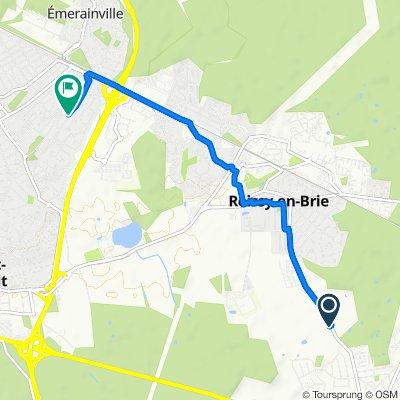 De Route Royale, Roissy-en-Brie à 37 Résidence des Tilleuls, Pontault-Combault