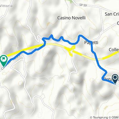 Via Rotabile - SP 61 108 to Viaoe Gigli 121, Sant'Angelo In Villa-giglio