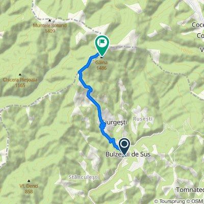 DJ762 277, Bulzeştii de Sus to Comuna Bulzeștii de Sus
