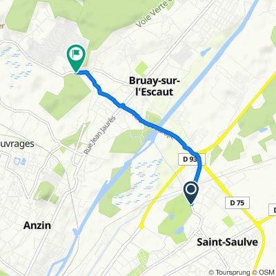 De 140 Rue Henri Durré, Saint-Saulve à 1 Rue Jean-casimir Perier, Bruay-sur-l'Escaut