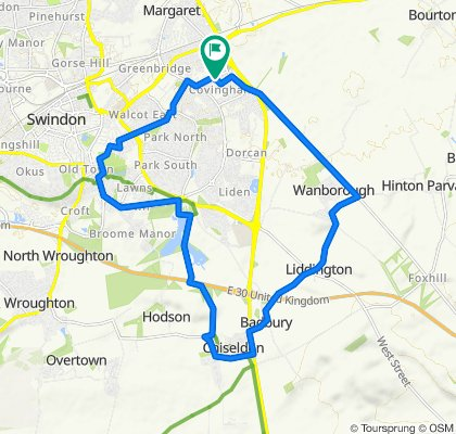 8 Linnetsdene, Swindon to 8 Linnetsdene, Swindon