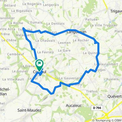 Corseul a travers champs - Boucle 25km