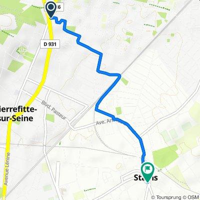 De 8 Allée Jean-Baptiste Lully, Sarcelles à 2 Rue Carnot, Stains