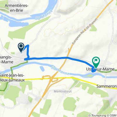 De 32 Rue Marcel Neyrat, Changis-sur-Marne à 24 Rue de Changis, Ussy-sur-Marne
