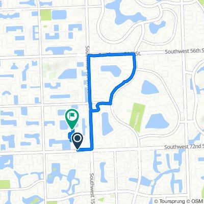 7161–7199 SW 158th Ct, Miami to 15850–15886 SW 68th Terr, Miami