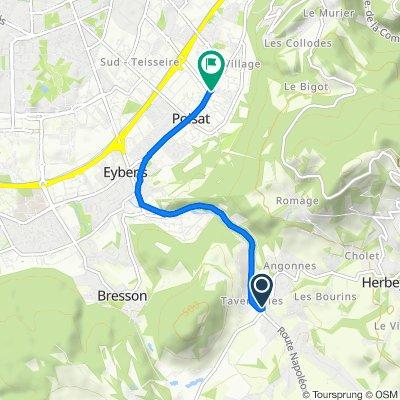 De 87 Route des Angonnes, Brié-et-Angonnes à Avenue Jacques Prévert, Saint-Martin-d'Hères