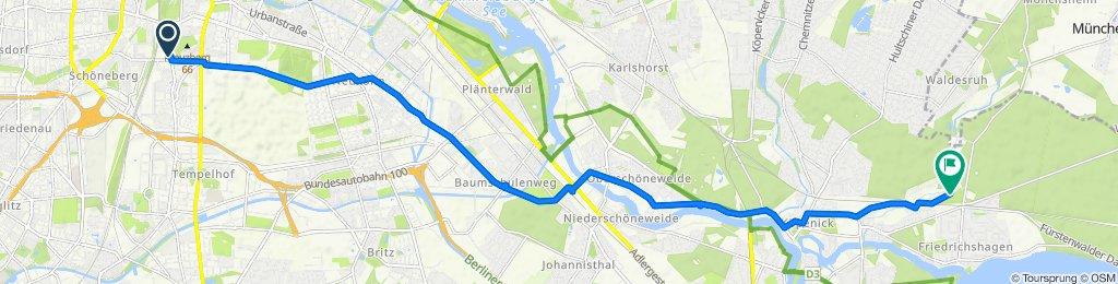 Dudenstraße 68, Berlin to Hinter dem Kurpark 28, Berlin