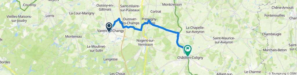 De 27bis Rue du Moulinet, Varennes-Changy à Rue de la Fontaine, Sainte-Geneviève-des-Bois