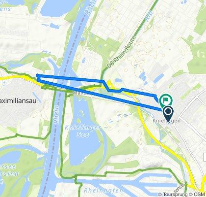 Saarlandstraße 97, Karlsruhe nach Östliche Rheinbrückenstraße 21, Karlsruhe