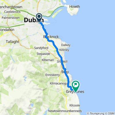 27 Ringsend Road, Dublin to Mill Road, Greystones