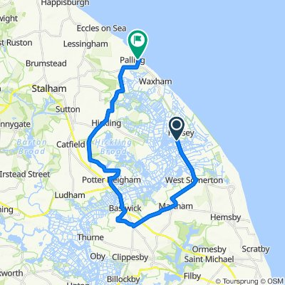 B1159, Great Yarmouth to Raverdene, The Marrams, Norwich