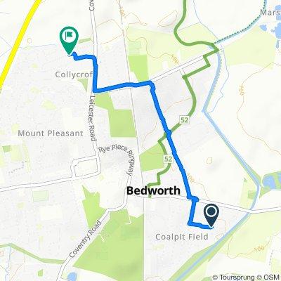 61 Poplar Avenue, Bedworth to 25 Wood Street, Bedworth