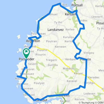 Pospoder Lanildut - Boucle 33km