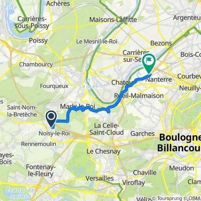 De 12 Résidence Les Chênes, Noisy-le-Roi à 10 Boulevard du Général Leclerc, Nanterre