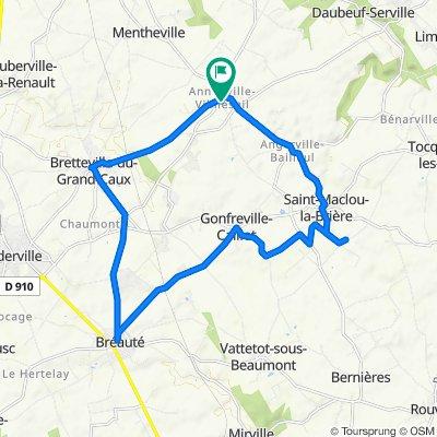 De Route des Bacs 5, Annouville-Vilmesnil à Chemin de Bernahet 1, Annouville-Vilmesnil