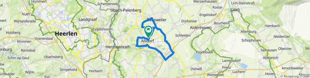 Oidtweilerweg 66, Alsdorf nach Wichernstraße 8–12, Alsdorf