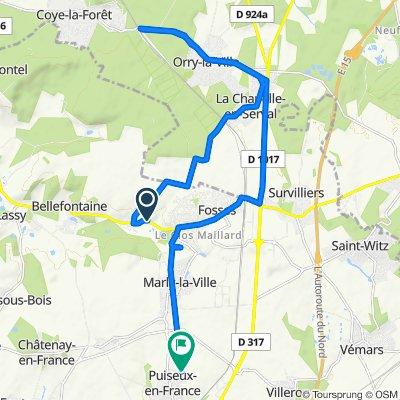 3B–21 Rue de la Prairie de Rocourt, Fosses to 61 Hameau du Fournil, Puiseux-en-France