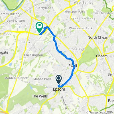South Loop, 4, Epsom, to Surbiton, 5.2m