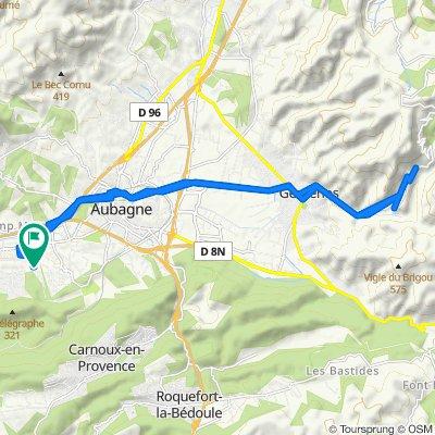 De 65 Allée des Aurengues, Aubagne à 65 Allée des Aurengues, Aubagne