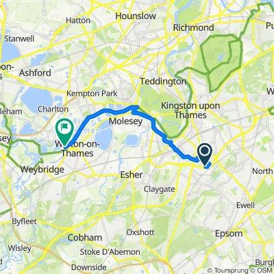 West Loop, 1, Surbiton, to Walton, 9.4m