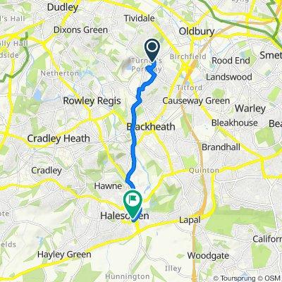 298 Newbury Lane, Birmingham to Fountain House, Great Cornbow, Birmingham