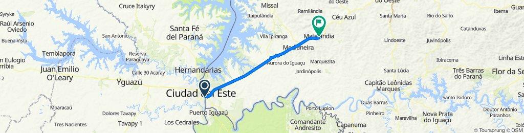 B1 retorno1- Foz do Iguaçu - São Miguel do Iguaçu - Matelândia