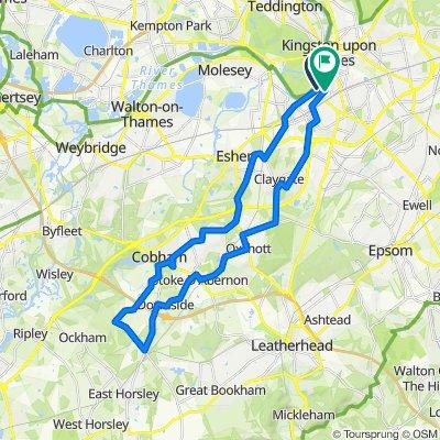 Kingston, to West Surrey, Loop, 21.8m