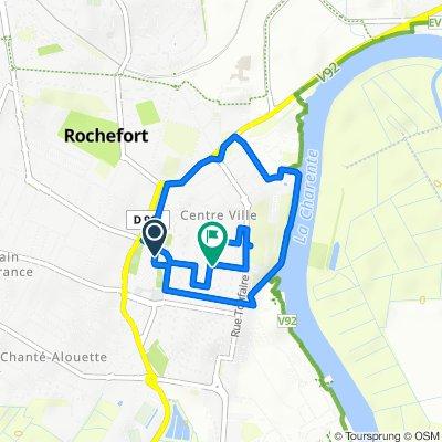 De Rue de l'Echauguette 2, Rochefort à Rue Audry de Puyravault 27, Rochefort