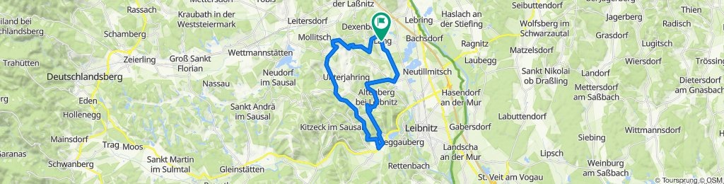 Dorfplatz Lang, Flamberg, St.Nikolai i.S., Heimschuh, Altenberg, Tillmitsch und zurück