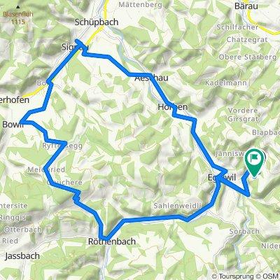 Obere Grosstannen, Eggiwil nach Obere Grosstannen 184, Eggiwil