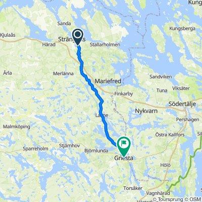 Route from Löts Campingplats 3, Strängnäs