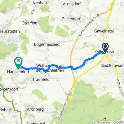 Brünner Straße, Bad Pirawarth nach Hauptstraße (Hautzendorf) 79, Hautzendorf