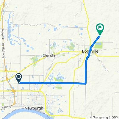 10333–10417 Oak Grove Rd, Newburgh to 695–791 S Folsomville Rd, Boonville