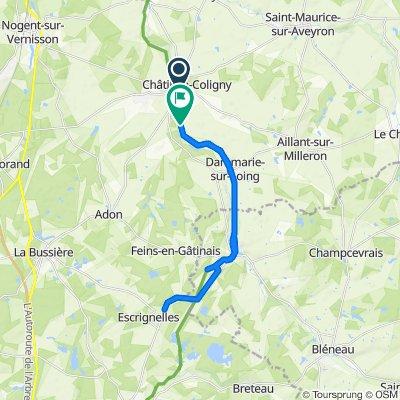 Itinéraire à partir de 1 Rue de la Lancière, Sainte-Geneviève-des-Bois