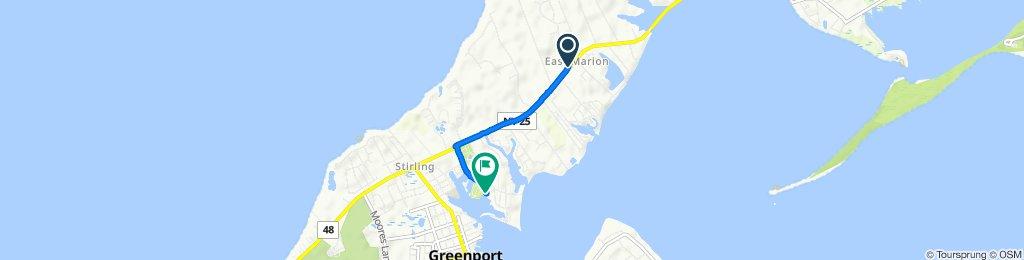 Slow ride in Greenport