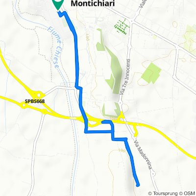 Da Via Alessandro Volta 7, Montichiari a Via Alessandro Volta 4, Montichiari