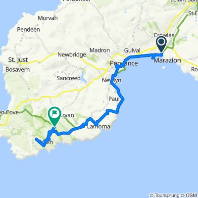Day 9 route