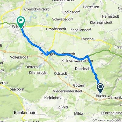 Route von Über dem Dorfe 71, Bucha