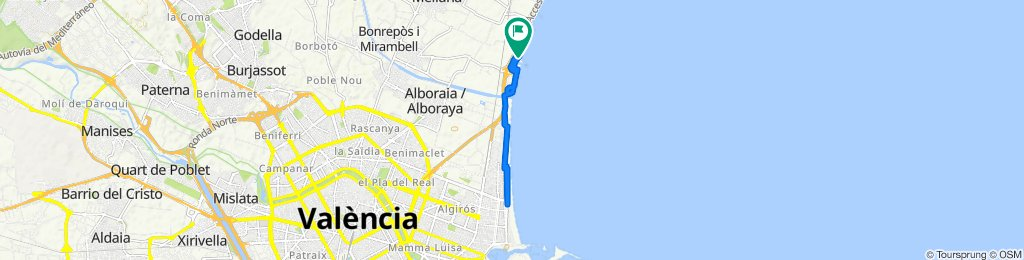 De Calle del Batlle, 4, Alboraya a Plaza de la Senyoria, 25, Alboraya