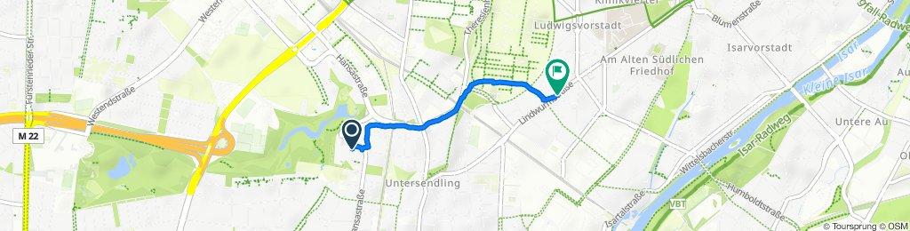 Faberstraße 4–10, Munich to Lindwurmstraße 129, Munich
