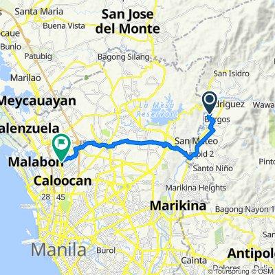 Route to Pio Valenzuela, Valenzuela City