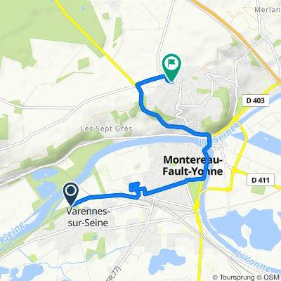 De Rue du Stade, Varennes-sur-Seine à 5 Chemin des Ormeaux, Montereau-Fault-Yonne