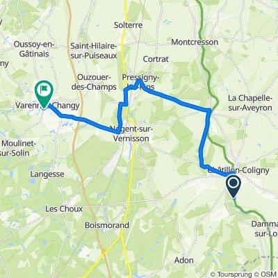 Itinéraire vers 27 Rue du Moulinet, Varennes-Changy