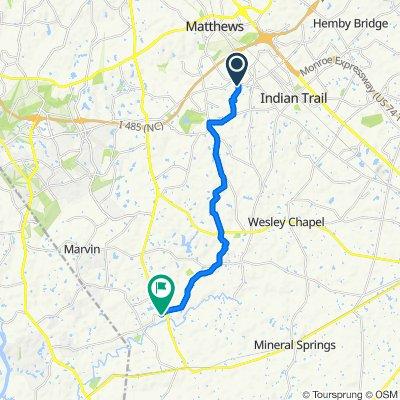 Longwall Lane 1210, Matthews to Kensington Drive 8139e, Waxhaw