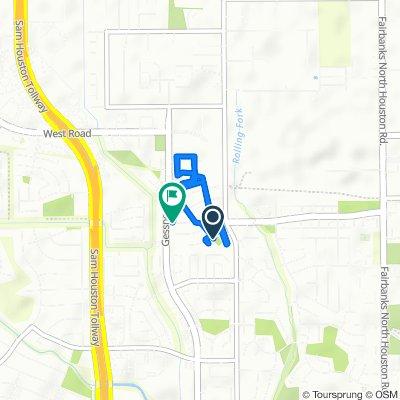 8426 Shadow Gate Ct, Houston to 8535 Village Terr, Houston