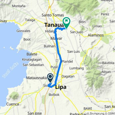 Lipa to Santo Tomas - Lipa Road